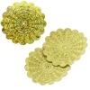 Sequins Hologram 36mm With Hole Flower Yellow